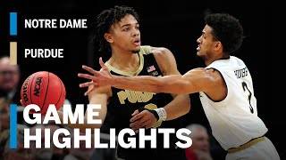 Extended Highlights: Purdue vs. Notre Dame   Big Ten Basketball