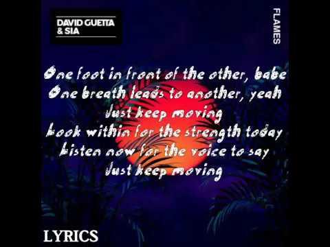 David Guetta & Sia - Flames | Lyrics
