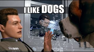 """Detroit Become Human - Connor """"I Like Dogs"""" & Russian Roulette (All Dialogue)"""