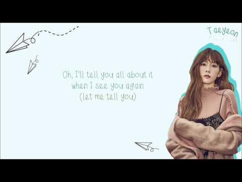 SNSD TAEYEON 태연 & WIZ KHALIFA - See You Again Clean Ver. Color-Coded-English-Lyrics 가사 l xoxobuttons