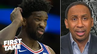 Stephen A.: Joel Embiid showing out vs. the Hawks means nothing to me! | First Take