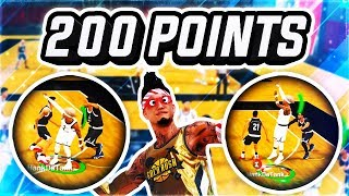 SCORING 200 POINTS w/ BEST PURE STRETCH IN NBA 2K19 JORDAN REC CENTER - WORLD RECORD