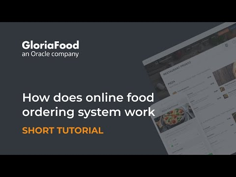 How online ordering for restaurants works -- by GloriaFood