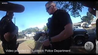 LPD officer soaked while responding to water fight in East Lubbock