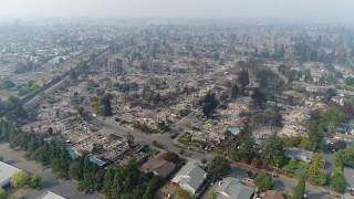 Santa Rosa Fire | Coffey Park Fire Aerial View Shows Neighborhoods Burned