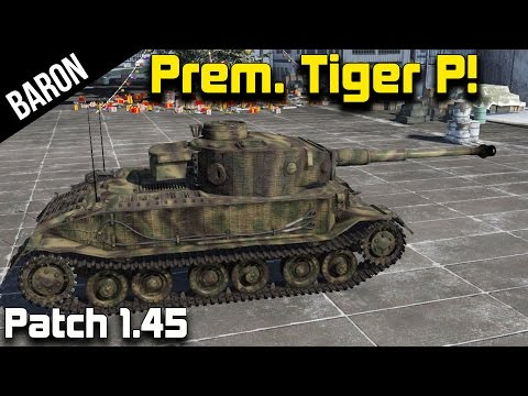 War Thunder New Tanks 1.45 - Premium Tiger Porsche Gameplay! (War Thunder 1.45 Tanks)