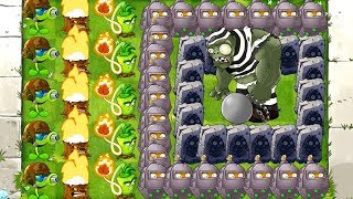 MAX LEVEL POWER-UP! Primal vs GARGANTUAR in Prison Plants vs Zombies 2 PVZ 2