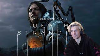 XQC REACTS to Death Stranding (dunkview) | videogamedunkey