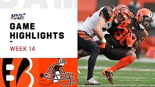 Bengals vs. Browns Week 14 Highlights | NFL 2019