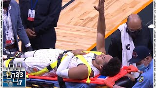 Devin Cannady SEVERE LEG INJURY, Left Game in a Stretcher - Pacers vs Magic | April 25, 2021