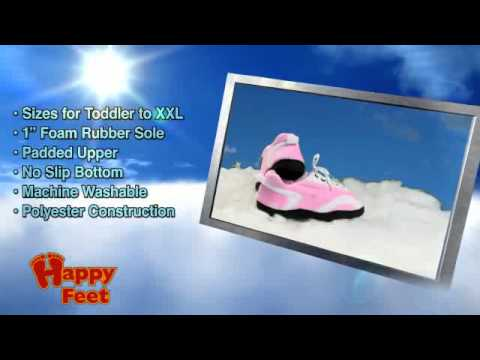 Happy Feet - Pink and White – Happy Feet Slippers