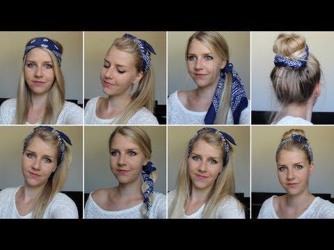 8 coiffures avec un bandana youtube