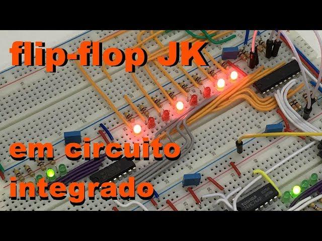 CIRCUITO INTEGRADO COM FLIP-FLOPS JK Conheça Eletrônica! #044