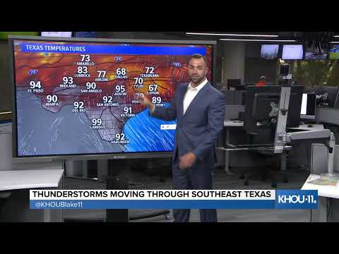Weather update: Blake Mathews has the latest on thunderstorms moving through the area