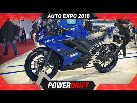 2018 Yamaha R15 V3 @ Auto Expo: The Rs 1.2 Lakh Superbike : PowerDrift