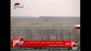 الآن| متظاهرون فلسطينيون يعبرون السياج الفاصل بين قطاع غزة ...