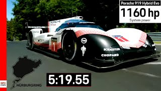 Fastest Lap Record At Nurburgring By Porsche 919 Hybrid Evo Explained
