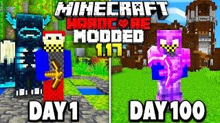 I Spent 100 Days in MODDED 1.17 Hardcore Minecraft...