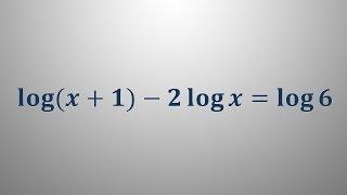 Logaritemska enačba 6