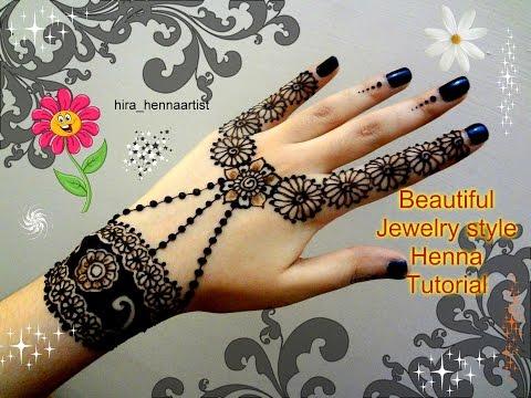 Beautiful Henna Mehndi Jewellery : Easy stylish mehndi tattoo design for beginners naush artistica