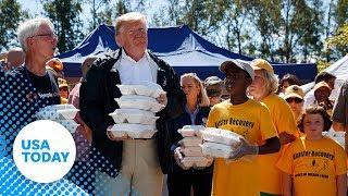 Live stream: President Trump surveys damage left behind by Hurricane Florence: President Donald T...