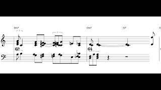 I Want to be Happy - jazz standard - Piano sheet music