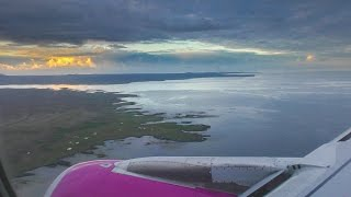 WOW Airlines landing at Reykjavik and connecting flight to Toronto