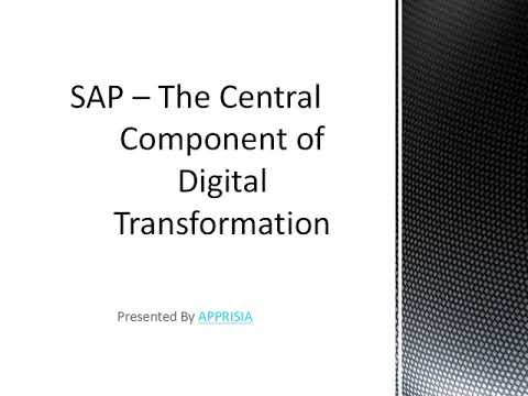 SAP – The Central Component of Digital Transformation