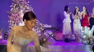 Siêu đám cưới của Á hậu Tường San và con trai cựu Bộ Trưởng | Hình ảnh chú rể được giấu kín