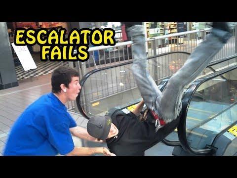 Funny Escalator Fail Compilation 2017 [NEW]