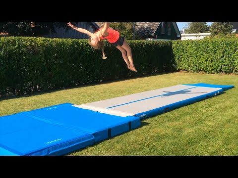 Fun in the garden with my new Airtrack