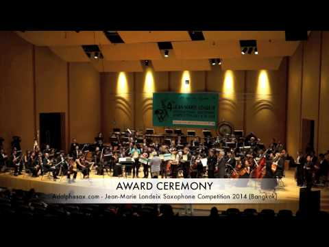 J.M LONDEIX COMPETITION AWARD CEREMONY (July 2014)