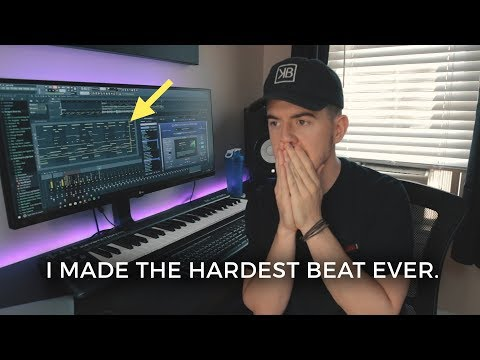I made the hardest beat ever. *Crazy* | (Making a trap Beat in FL Studio)