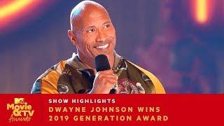 'Bring Everybody With You' Dwayne Johnson Wins 2019 Generation Award | 2019 Movie & TV Awards