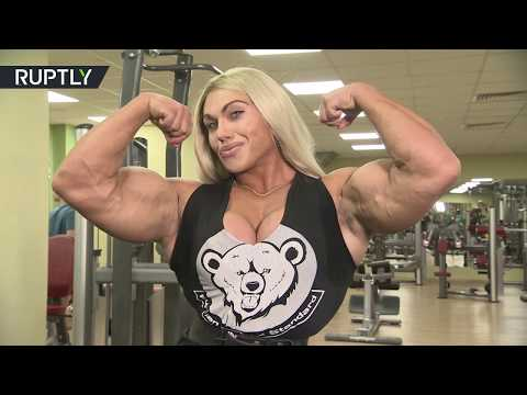 شاهد ..أقوى وأجمل بطلة روسية في رياضة كمال الأجسام