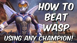 How To Beat Wasp Using Any Champion - Marvel Contest Of Champions