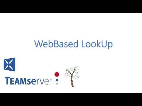 WebBased LookUp - An Integrated Feature in TEAMserver