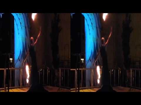 Liquid performs fire dance @ Decompression 2015 (YT3D:Enable=True)