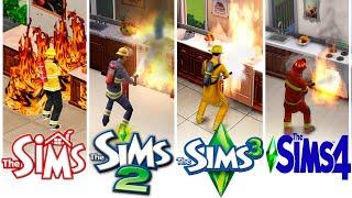 ♦ Sims 1 vs Sims 2 vs Sims 3 vs Sims 4 : Firefighters