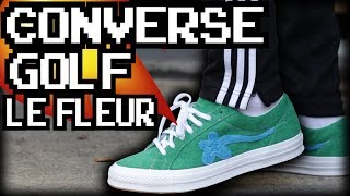 TYLER THE CREATOR X CONVERSE GOLF LE FLEUR ON FEET!!!