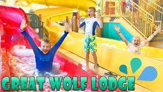 Great Wolf Lodge Best Waterpark & Ropes Course || Family Fun Pack - YouTube