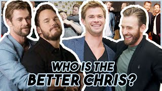 Chris Evans, Hemsworth & Pratt Reveal WHO IS THE BETTER CHRIS | Funny Moments Avengers: Endgame