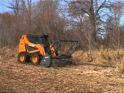 Loftness Timber Ax Hydraulic Skid Steer Mounted Brush Cutter And Shredder Youtube