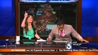 KTLA Anchors React to Earthquake!