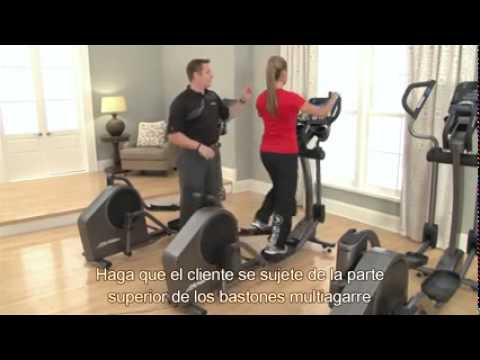 video Life Fitness E1 Go Cross-Trainer, Titanium