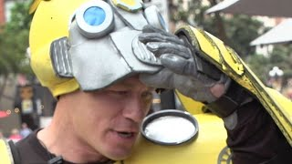 John Cena Surprises Fans as Bumblebee - Comic Con 2018