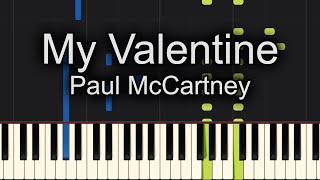 My Valentine Paul McCartney Piano Cover + Sheet Music Available!!