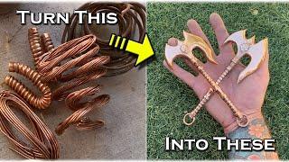 Casting A MINI Copper Darius Axe From League Of Legends(X2) - Turn Scrap Copper Into Art