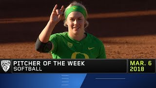 Oregon's Miranda Elish collects Pac-12 Softball Pitcher of the Week accolades