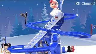 ChiChi ToysReview TV - Trò Chơi cầu trượt chim cánh cụt vui nhộn
